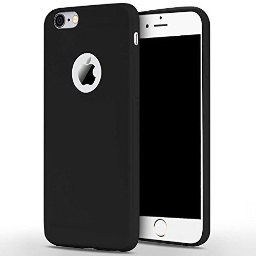 Cover iPhone 6 (4.7),ToDo iPhone 6S Custodia Silicone Ultra Morbido Satinate Opaco Ultra Sottile TPU Flessibile Gomma Cassa Protettiva Gel [Anti-scivolo] [Anti-Graffio] [Antiurto] Leggero Cellulari P Blu + Nero