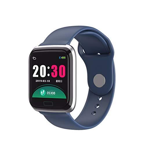 Yumimi88 Fitness Tracker mit Herzfrequenz, Smartwatch Sport Wasserdicht Armband, Fitness Aktivität Herzfrequenz Tracker Uhr Kalorien IP67 (Blau)