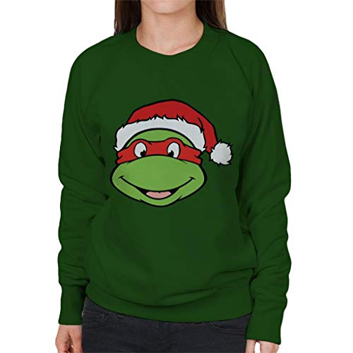 Teenage Mutant Ninja Turtles Raphael Christmas Hat Women's Sweatshirt