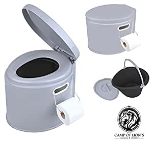 camping toilette tragbare eimertoilette mit sitz deckel komposttoilette 7l. Black Bedroom Furniture Sets. Home Design Ideas