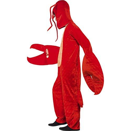 Amakando Krebs Tierkostüm Lobster Hummerkostüm Lustiges Krabbenkostüm Hummer Kostüm Karnevalskostüme Tier Krabbe Faschingskostüm Krebskostüm ()