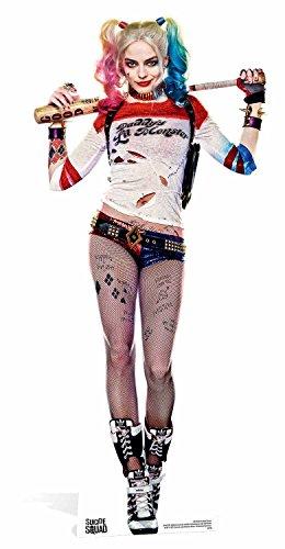 Joker's Freundin Kostüm - Suicide Squad Pappaufsteller Harley Quinn Baseballschläger