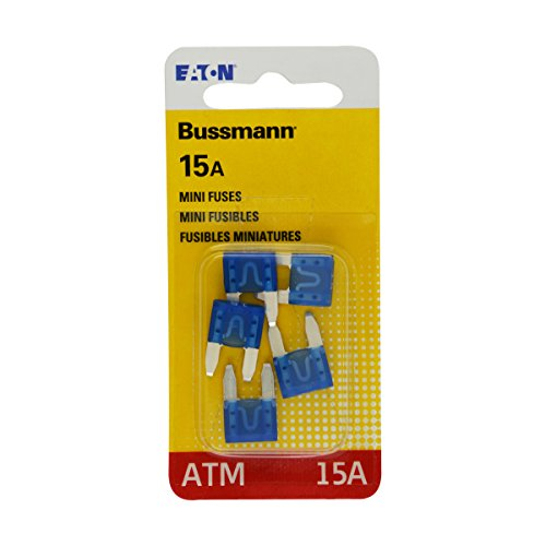Bussmann BP/ATM-15-RP Mini Automotive Fuses-15AMP MINI FUSE -