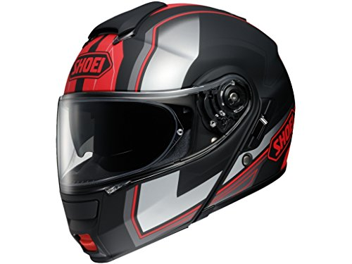 Shoei Neotec Imminent Flip Front Motorcycle Helmet M Black Red (TC-1)