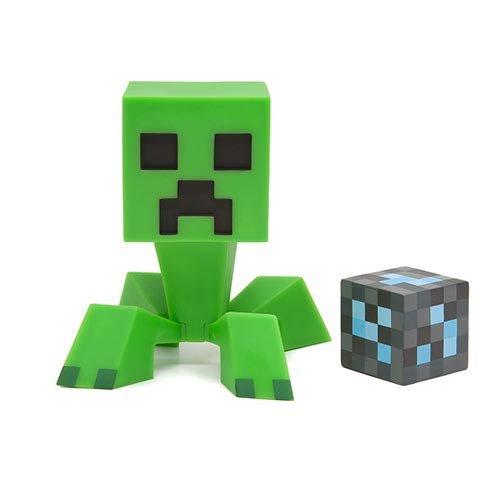 (Minecraft Creeper Figur 15cm beweglicher Kopf Vinyl grün)
