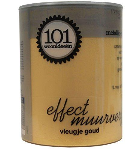 101woonideeen Metall-Optik Metallic-Effect Metall Accent Gold Seidenglänzend 1 Liter