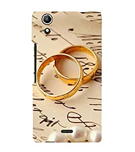 FUSON Engagement Ring Couple 3D Hard Polycarbonate Designer Back Case Cover for Micromax Canvas Selfie 2 Q340