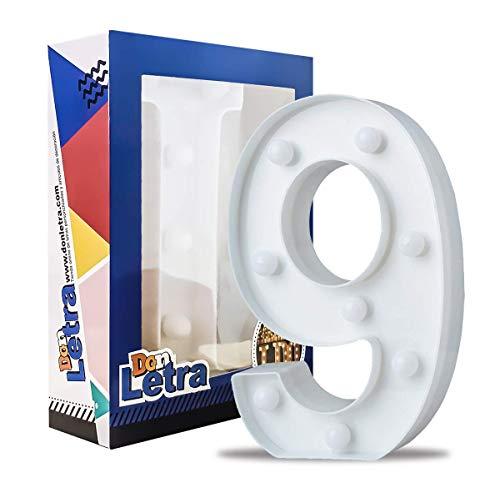 Don Letra LED-Dekorationsnummern mit dekorativen LED-Lichtern, Dekoration, Zahlen 0-9, Weiß -