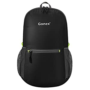 41GGx9bqCqL. SS300  - Gonex 20L Packable Backpack for Men Women Foldable Carry on Camping Outdoor Cycling School