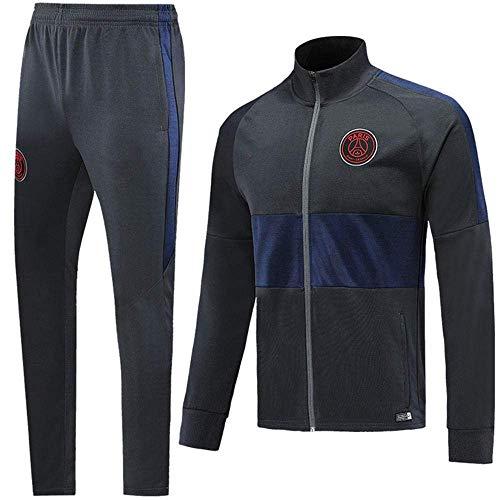 BoFlision Sportswear Club Langarmtrikot mit hohem Kragen Paris Fußballbekleidung Anzug Mannschaftstraining Anzug, A, S