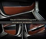Zoomy Far: linea nera e rossa: portiera della macchina di protezione anti-calcio anti-sporco accessori car-styling per BMW Serie 5 E60 E61 F10 F11 F07 2004 2010 2011 2015 2016
