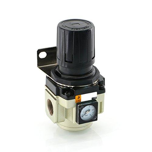 """Druckregler rücksteuerbar (mit Sekundärentlüftung) Druckluft Druckminderer (Gewindegröße: G 3/8\"""")"""