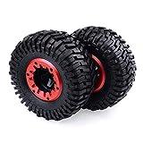 Rock Crawler Reifen, die Solide Beadlock Felge RC Auto Reifen Klettern Teile Zubehör Quick Easy Installation Gummi Reifen 24,5cm 128mm Super Swamper Tire 104221: 10Für HPI rot