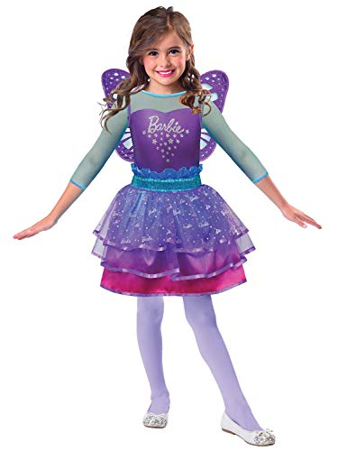 Girls Official Barbie Rainbow Fairy Pretty Ombre Princess TV Book Film Fancy Dress Costume Outfit 3-10 Years (5-7 Years)