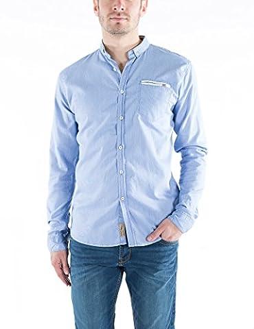 Timezone Herren Freizeithemd Moore Shirt Button Down Blau (Blue 3830), 44 (XL) (Button-down-cotton Cardigan)