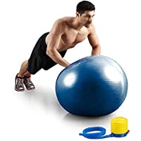 MW MALL India Anti-Burst Exercise Heavy Duty Gym Ball Non-Slip Stability Ball Anti Burst Yoga Ball Gym Ball with Foot…