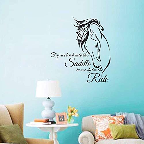 59 cm x 64 cm Der Sattel Pferd Wandaufkleber Vinyl Kunstwanddekor Aufkleber Selbstklebende Wandaufkleber Dekoration -