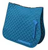 Best Saddle Pads - Rhinegold Cotton Quilted Saddle Cloth-Cob-Turquoise Review