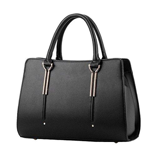 Frauen Handtasche Mode Schulter Tot Pack Black