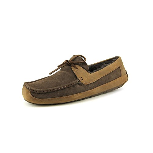 ugg-australia-byron-hombre-us-13-marron-slippers-zapatos