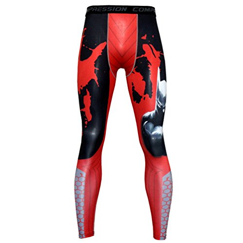 TieNew Herren Cool Hose Leggings Gedruckt Yoga Gym Jogging Fitness Kompressionshosen,Männer Leggings lang Unterhose Unterwäsche Strumpfhose Herrenleggings Hose