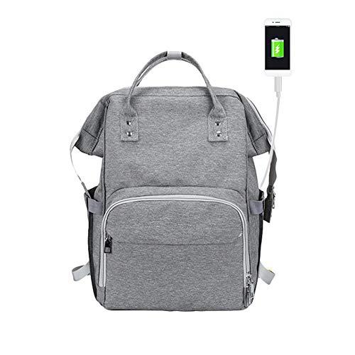 Bolsa de pañales, mochila para cambiar pañales de gran capacidad, bolsa multifuncional...