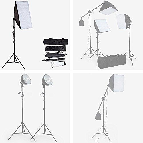TecTake ILLUMINAZIONE SET STUDIO FOTO LUCE LAMPADA SOFTBOX STATIVO - modelli differenti - (Luce Studio con supporto (No. 400752))