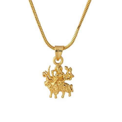 Voylla Pendant for Men (Golden)(8907617089201)