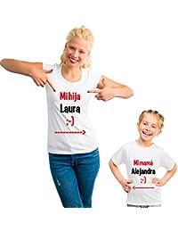 Desconocido Pack Personalizado de Camiseta Para Madre + Body o Camiseta Para Hijo/a …