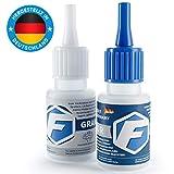 Faktor® Kleber 2K Premium Universal Kleber | Extra starker Sekundenkleber mit Granulat | Allzweckkleber für Industrie & Haus