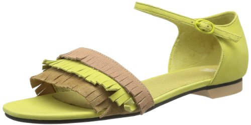 Camper Twins 21985, Sandali Donna, Giallo (Jaune (Yellow-001)), 41.5