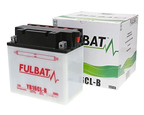 Batterie FULBAT YB16CL-B DRY inkl. Säurepack für KAWASAKI (Jet Ski) JS550, SX 550 ccm Baujahr 86-9[ inkl.7.50 EUR Batteriepfand ]