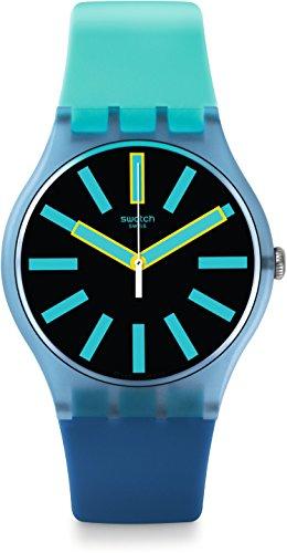 Swatch Orologio da Uomo Digitale al Quarzo con Cinturino in Silicone - SUOS105