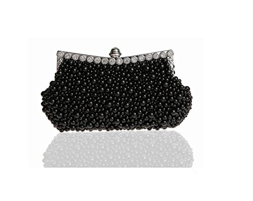WenL Damen Clutch Bags Abendtaschen Hochzeit Tasche Brauttasche Handtasche Luxus Strass,Black