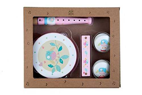Engelhart - Komplettes rosa Musikset, Kinder-Musikinstrumente - 770072