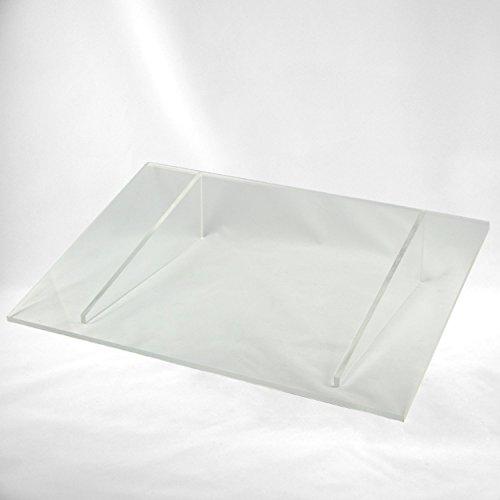 Lichtschachtabdeckung/Kellerschachtabdeckung/Regenschutz aus Acryl/Plexiglas zum Auflegen 900 x 450 mm
