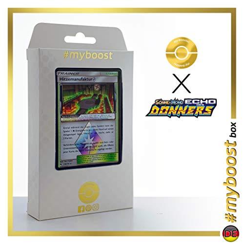 Hitzemanufaktur (Fábrica Ígnea) 178/214 Holo Prisma - #myboost X Sonne & Mond 8 Echo Des Donners - Box de 10 Cartas Pokémon Alemán