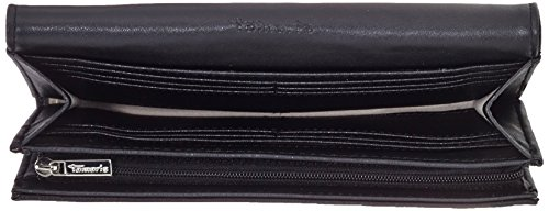 Tamaris - Alena Big Wallet With Flap, Portafogli Donna Nero (Black 001)