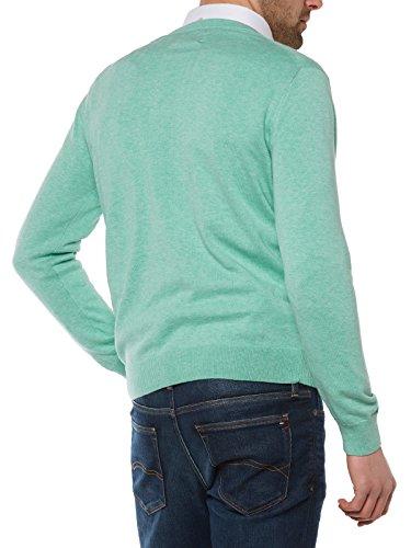 GANT Herren Pullover LT. WEIGHT COTTON V-NECK, Einfarbig Grün