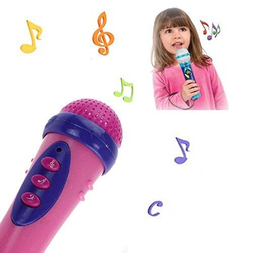 Yogogo- enfants Jouet - Mode Filles Garçons Microphone Chant de karaoké Cadeau drôle Jouet de musique (19.5cm, B)