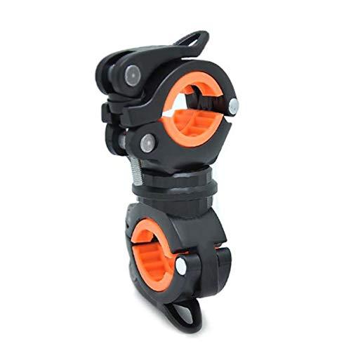 JullyeleDEgant Universal Bike LED Taschenlampe Halterung 360 ° Drehung Doppel Halter Front Taschenlampe Pumpe Lenker Halter Fahrrad Zubehör - Front Halter