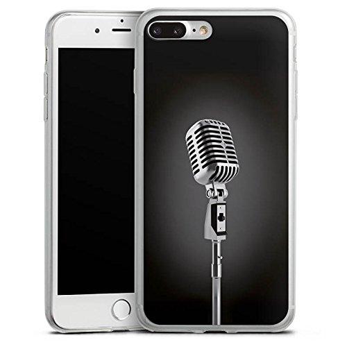 Apple iPhone 8 Plus Slim Case Silikon Hülle Schutzhülle Mikrofon Singen Mikrophon Silikon Slim Case transparent