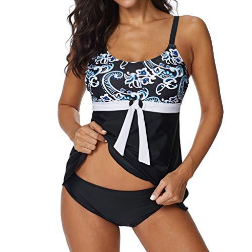 OverDose Boutique Elegance Cami Verstellbarer Oder Nicht Verstellbarer Schultergurt Zwei Stück Beachwear Sommer Damen Bademode Badeanzug Tankinis Set Große Größen
