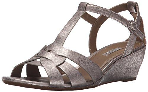 Ecco Footwear Womens Rivas 45 Wedge Dress Sandal, Moon Rock, 41 EU/10-10.5 M US