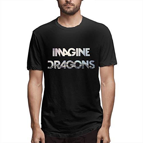 stilvolle Imagine Dragons, die Drachen Baumwolle Tops Sommer Sport T-Shirts für Männer schwarz 3XL -