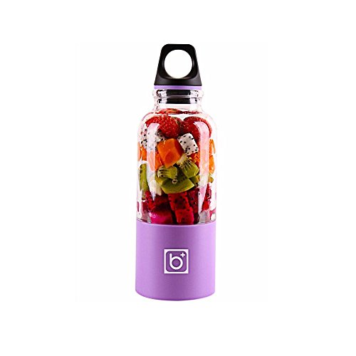 AOLVO 500ml Licuadora Vaso USB Bottle Portátil y Recargable para Jugo de Fruta, Verdura y Milkshake