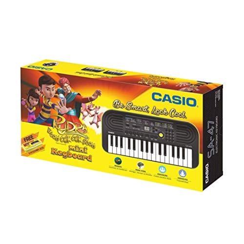 Casio SA47 Mini Portable Keyboard with Free Rudra Stationery Box