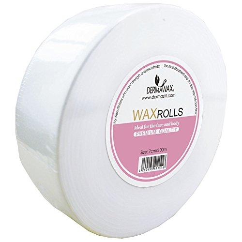100 Meter Vliesrolle für Profis Kosmetiker Waxing Haarentfernung Warmwachs Sugaring Zuckerpaste Wachspatrone