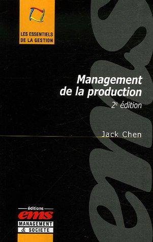 Management de la production par Jack Chen