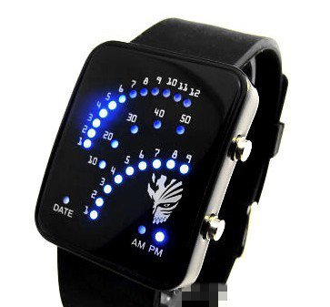 New Fashion Led Digital Sports Watch Anime BLEACH Kurosaki Ichigo Cosplay Wristwatch Birthday Christmas Gift